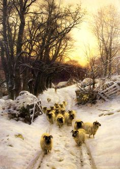 "windypoplarsroom:    Joseph Farquharson  ""The sun had closed the winter's day"""