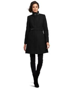 "Via Spiga Women's ""maria"" Stand Collar Wool Coat, Black, 6 Via Spiga. $119.97"