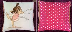 """A needle and some thread: """"Wish Upon a Star"""" by Lili of the Valley. Finished as a small cushion."""