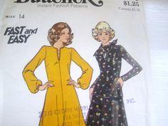 ON SALE Vintage Butterick Misses Flared Dress by scarlettess