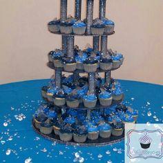 Denim and Diamonds cupcakes