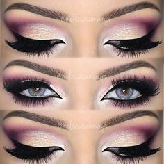 Gorgeous pink eye makeup!