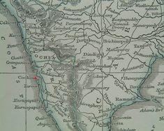 "Cochin in its setting, from ""Lowry's Table Atlas"" by J.W. Lowry (Chapman & Hall, London, 1850)"