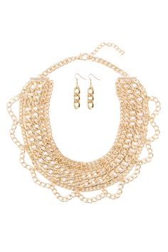 Lace Style Lady's Chain Necklace Set for Women