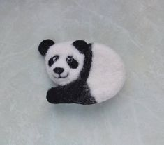 Animal brooch Panda bear Felt animal Forest animal pin White black pin Eco friendly jewelry Woodland Animal lover Girl eco jewelry gift This animal brooch needle felted Panda bear was made from pure wool using dry felting technique. Black and white brooch will be a great accompaniment