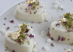 persian custard rose water almond milk dessert
