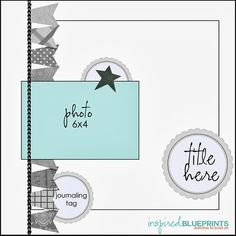 Like how it's all connected with the inner paper or even a line to section it off Baby Boy Scrapbook, 12x12 Scrapbook, Scrapbook Templates, Mini Scrapbook Albums, Scrapbook Layout Sketches, Card Sketches, Scrapbooking Layouts, Picture Layouts, Photo Sketch