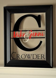 Couple's Name Picture Frame