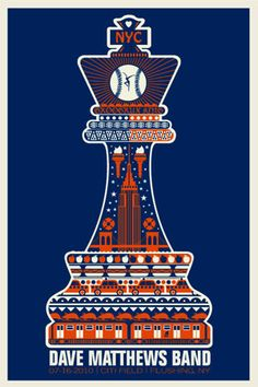 Dave Matthews Band concert poster designed by Methane Studios.