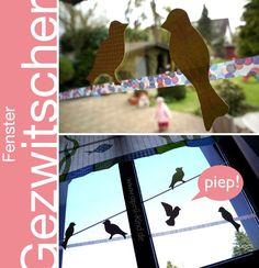 aprilkind – Näh' dich glücklich!: DIY: Zwitschernde Fensterdeko
