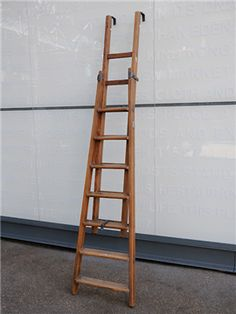 Elemental antique vintage retro furniture lighting seating : curiosities : Extending Ladders