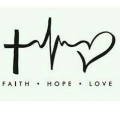 Faith♥Hope♥Love - I think this would make a cool tattoo,