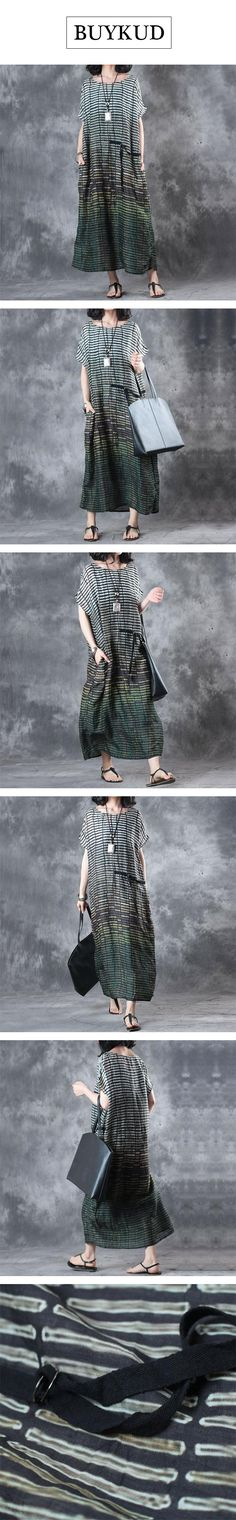 This vintage stripe green dress can really make you full of breath of mature and elegant women!