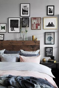 55 Stunning Eclectic Bedroom Decorating Ideas On A Budget - Page 20 of 56 Eclectic Style, Budgeting, Bedroom Decor, Gallery Wall, Decorating Ideas, Stay Healthy, Awesome, Design, Home Decor