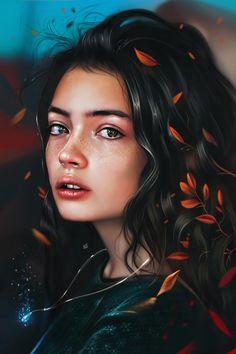 Digital Painting Inspiration Vol. 29 - Digital Painting Inspiration Vol. Art Inspo, Painting Inspiration, Digital Art Girl, Digital Portrait, Digital Art Fantasy, Fantasy Art, Portrait Images, Portrait Art, Girl Portraits