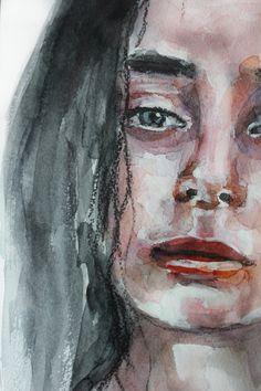 Watercolor portrait #art #painting #watercolor #portrait #blonde #redlips #lips #passion #print #teslimovka #sigth #акварель #рисунок #живопись #блондинка #краснаяпомада #губы #взгляд