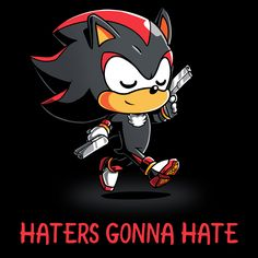 Shadow Haters - This official Sonic the Hedgehog t-shirt featuring Shadow the Hedgehog is only available at TeeTurtle!