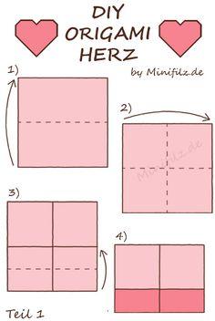 1000 ideas about origami herz on pinterest herz falten herz mit fl gel and origami. Black Bedroom Furniture Sets. Home Design Ideas