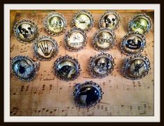 Creepy Gothic Rings 14 designs to choose by CuriologyJewellery