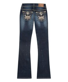 This Blue Mykonos Flare-Leg Jeans - Plus is perfect! #zulilyfinds