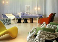 Sanderson Hotel, London  - Philippe Starck design, Alain Ducasse food - impressive.