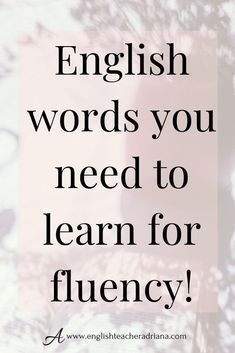 Learn English words fast to improve your English Vocabulary and speaking skills. Click the link below to learn how