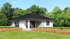 Zdjęcie projektu Dom przy Pastelowej 9 KRK1465 House Layout Plans, Small House Plans, House Layouts, Gazebo, Sweet Home, Outdoor Structures, How To Plan, Outdoor Decor, Design