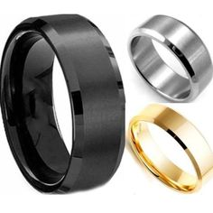 2017 Men Fashion Charming High Quality Black Gold Silver Stainless Steel Male Ring Fashion Jewelry Accessories