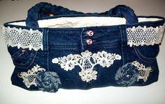 Fabulous Denim Handbag Embellished with Vintage by TastefulOptions, $57.00