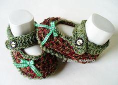 Strick- & Häkelschuhe - Babyschuhe Ballerinas Tracht  - ein Designerstück von strickliene bei DaWanda
