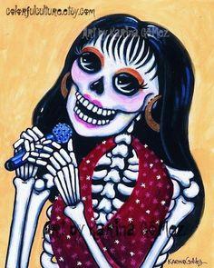 SUGAR BLOSSOM SKULL Ornament MONEY BOX MEXICAN Day of the Dead GOTHIC PAGAN