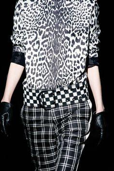 Clashing Monochrome Prints; black & white pattern fashion details // Haider Ackermann Fall 2015