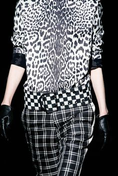 Clashing Monochrome Prints; black & white pattern fashion details // Haider Ackermann Fall 2015
