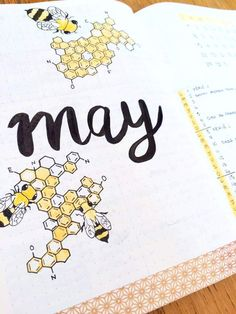 May bullet journal front page #bulletjournal #bujo #frontpage #creativeinspiration #drawing #prettyplanner