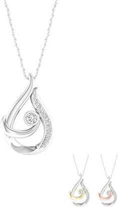 Sterling Silver Rhodium Micropave Floating Sapphire Blue /& Clear Round Cut Cubic Zirconia Triangle 18 Necklace