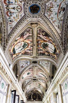 Corridoio dei Mori - dettaglio del soffitto (Palazzo Ducale di Mantova).