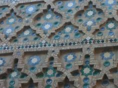 (Detailed view) Zaragoza, Spain: Tile, ceramic use as building material.