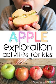 Fun apple activities for preschool and Kindergarten kids using our 5 senses, simple science, books, and more. The taste test activities is a MUST TRY! Read now to grab your FREE apple exploration printable kit! 5 Senses Activities, Preschool Science Activities, Apple Activities, Autumn Activities For Kids, Easy Science, Science Books, Elementary Science, Science For Kids, Classroom Activities