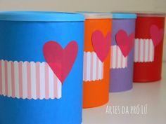 Artes da Pró Lú: Decorando, organizando e reutilizando com latas, caixas... feitos por mim.