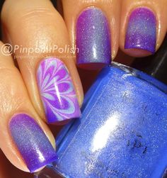Polished by KPT, Being in the Pink, Kelvin Bleu, water marble, gradient