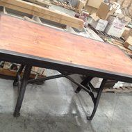 Industrial wooden and steel table $1200 OBO