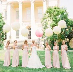 rosa zart pastell Brautjungfernkleider chiffon lang unterschiedlich