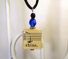 Shine pendant  https://www.etsy.com/listing/253995350/shine-pendant-vintage-music-note