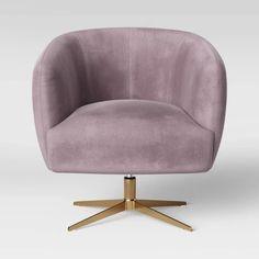 Morpho Swivel Velvet Arm Chair - Opalhouse™ : Target
