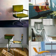Artists Take A Seat: Paintings Of Chairs by six contemporary artists #art #chairs