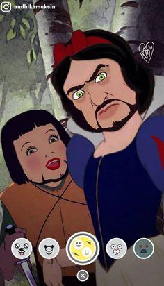 Artist Reimagines Disney Princesses In A More Realistic Way. Andhika Muksin is entranced with Disney. He has been photoshopping Pocahontas, . Humour Disney, Funny Disney Memes, Disney Jokes, Cartoon Memes, Spongebob Memes, Funny Jokes, Cartoons, Dark Disney, Disney Art