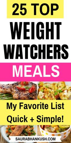 25 Weight Watchers Meals With Points – Freestyle Dinner Recipes With SmartPoints - SaurabhAnkush - New Ideas Weight Watchers Chili, Weight Watchers Lunches, Weight Watchers Meal Plans, Weight Watchers Breakfast, Weight Watcher Dinners, Weight Watchers Chicken, Weight Watchers Desserts, W Watchers, Weigth Watchers