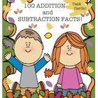 This product has 20 task cards! 10 Addition   10 Subtraction 50 addition facts  (sums to 18)           5 facts on each task card  50 subtraction facts (differences to 9) 5 facts on each task card 2 recording sheets for answers   Fall theme! I hope your students enjoy these fun task cards!