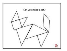 Tangrams Print the pattern belo