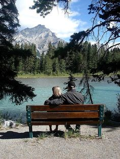 """""""Parents on a Bench"""". Love this pic... hopefully some day I'll have a wife that I can take pics like this with."""